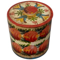 Provincetown Folk Artist Peter Hunt Painted Covered Box