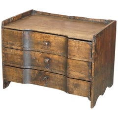 Provincial 18th Century circa 1740 Continental Stained Pine Chest of Drawers