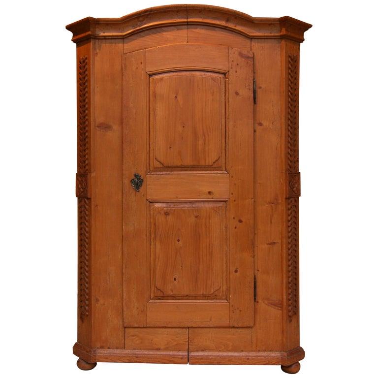 Provincial Cabinet Made of Pine, Empire Period circa 1820 For Sale