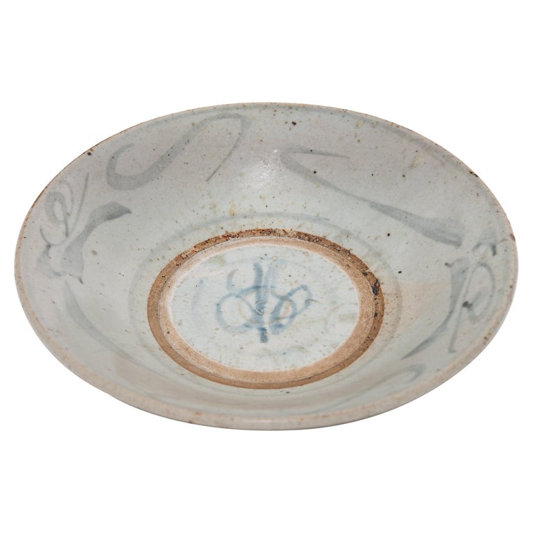 Provincial Chinese Blue and White Plate For Sale