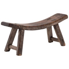 Provincial Chinese Crescent Stool, circa 1850