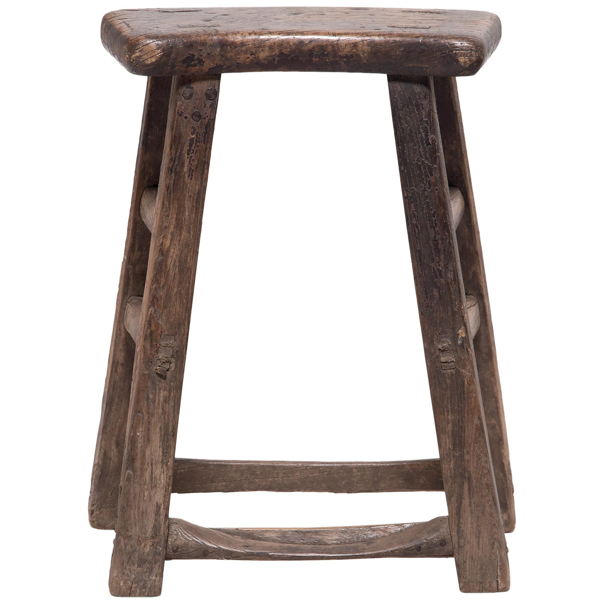 Provincial Chinese Fan Stool, circa 1900