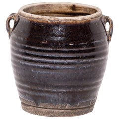 Provincial Chinese Glazed Kitchen Jar, circa 1900