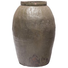 Provincial Chinese Jade Pickling Jar, circa 1900