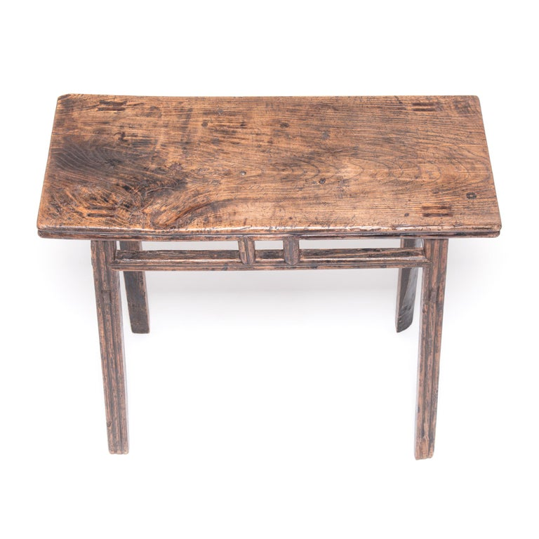 20th Century Provincial Chinese Stacked Stretcher Console Table For Sale