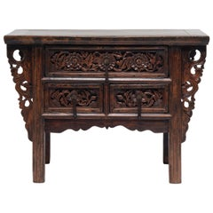 Provincial Chinese Two Drawer Altar Table, circa 1850