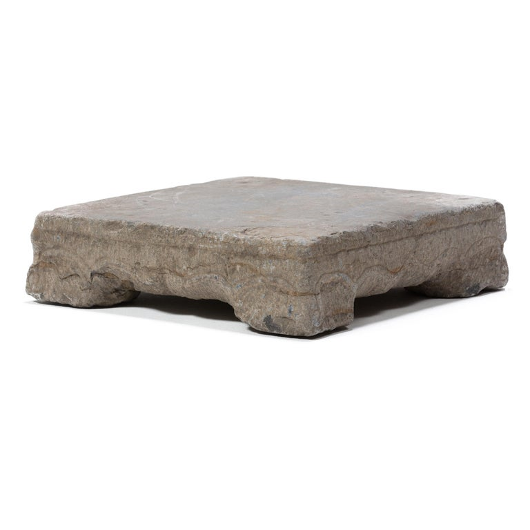 Qing Provincial Chinese Washing Stone Pedestal For Sale
