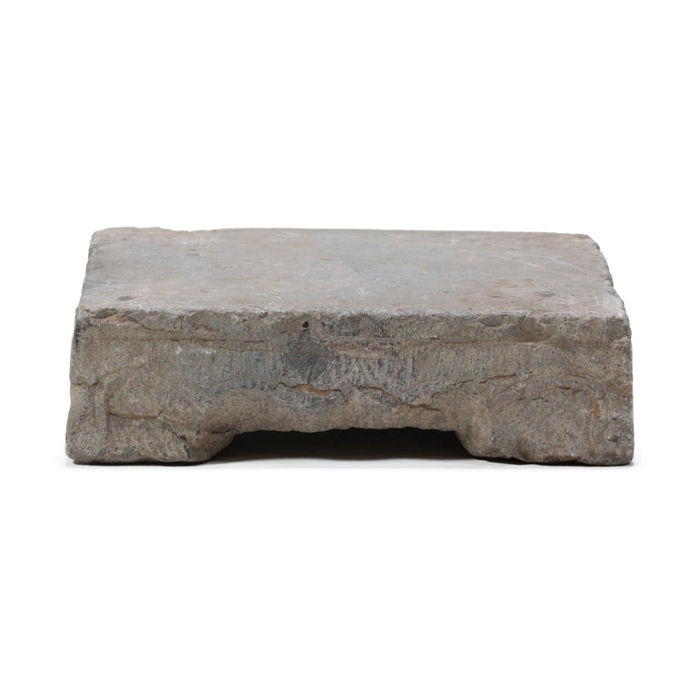 Hand-Carved Provincial Chinese Washing Stone Pedestal For Sale