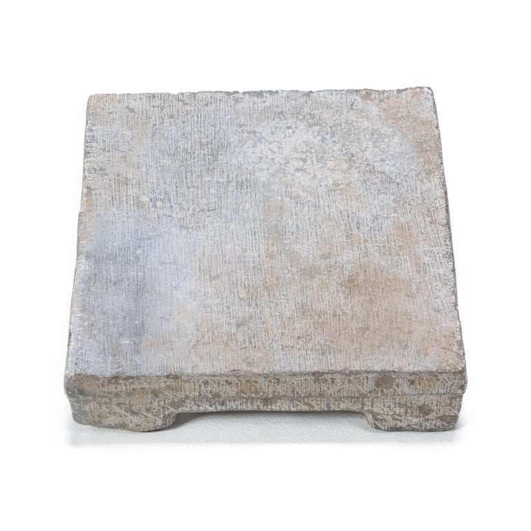 Provincial Chinese Washing Stone Pedestal In Good Condition For Sale In Chicago, IL