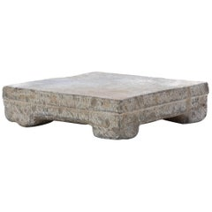 Provincial Chinese Washing Stone Pedestal