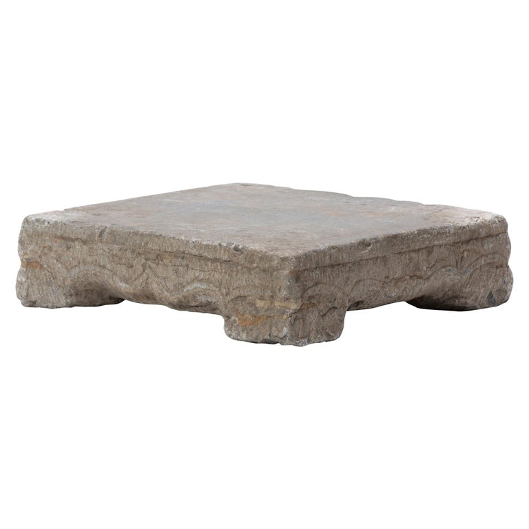 Provincial Chinese Washing Stone Pedestal For Sale