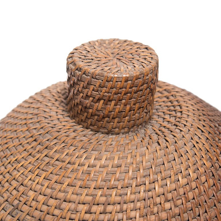 Provincial Chinese Woven Summer Hat Box, circa 1850 For Sale 3