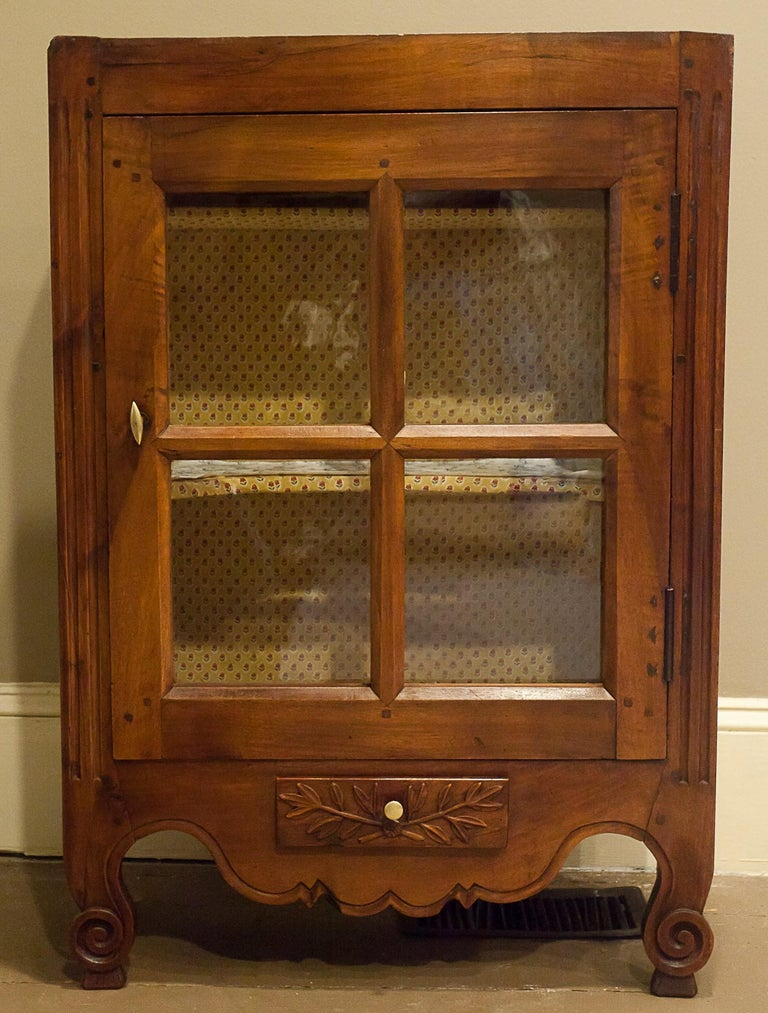 Provincial French Fruitwood Hanging Or Standing Cabinet For Sale At