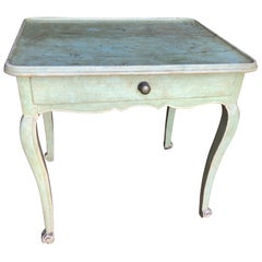 Provincial Louis XV Painted Side Table, 18th Century