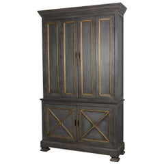 Provincial Painted Tall Bookcase, Grey