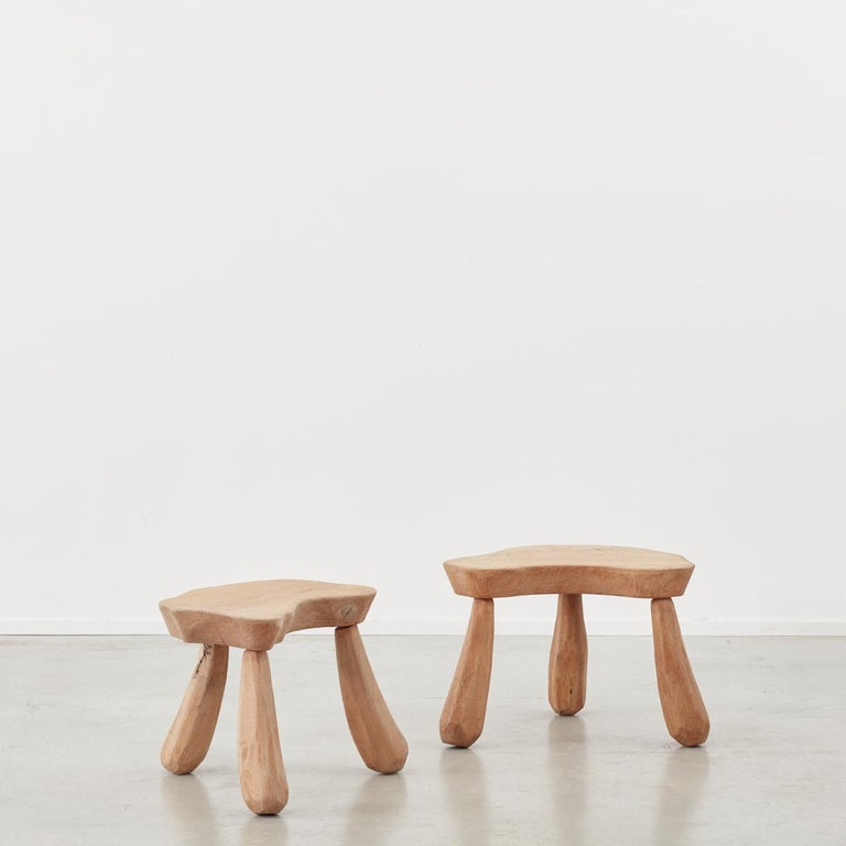 French Provincial Wooden Stools/Tables France, Late 20th Century