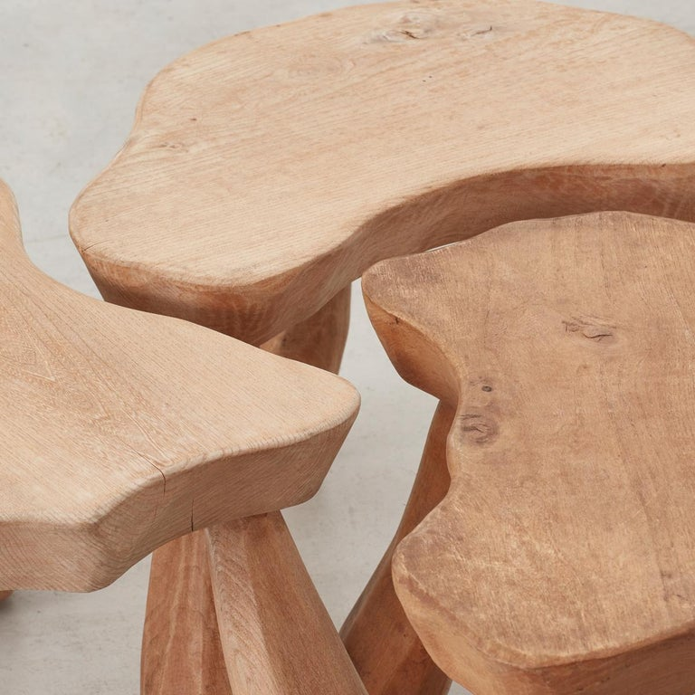 Provincial Wooden Stools/Tables France, Late 20th Century 3