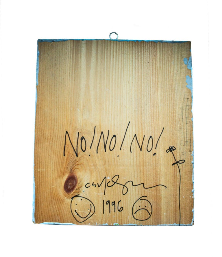 Modern Provocative American Artist Cary Leibowitz, 1996, Paint on Wood For Sale