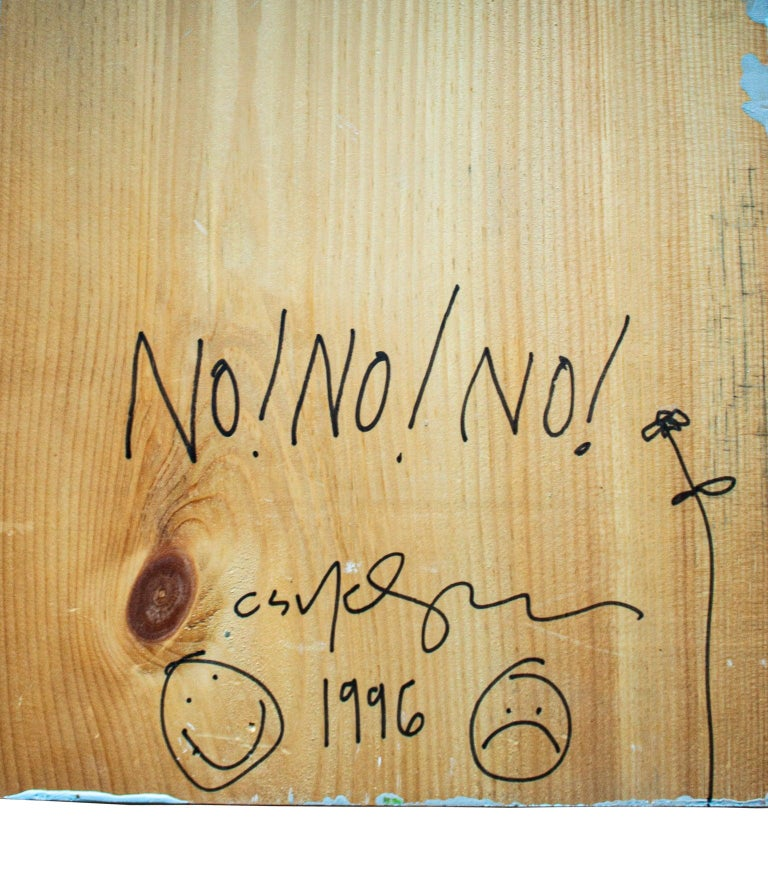 Provocative American Artist Cary Leibowitz, 1996, Paint on Wood In Good Condition For Sale In Stockholm, SE