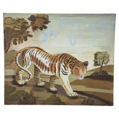 Prowling Lioness Oil Painting on Canvas
