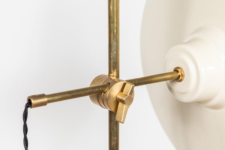 Brass Pruckel Floor Lamp by Lawson-Fenning For Sale