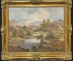 Prudence Turner (b.1930) Large Signed Oil- Scottish Highlands Loch & Mountains
