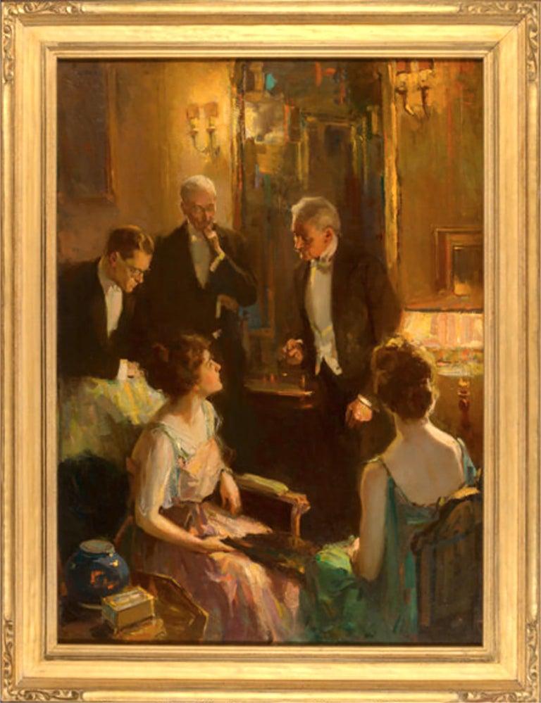 An Evening Conversation - Painting by Pruett Alexander Carter