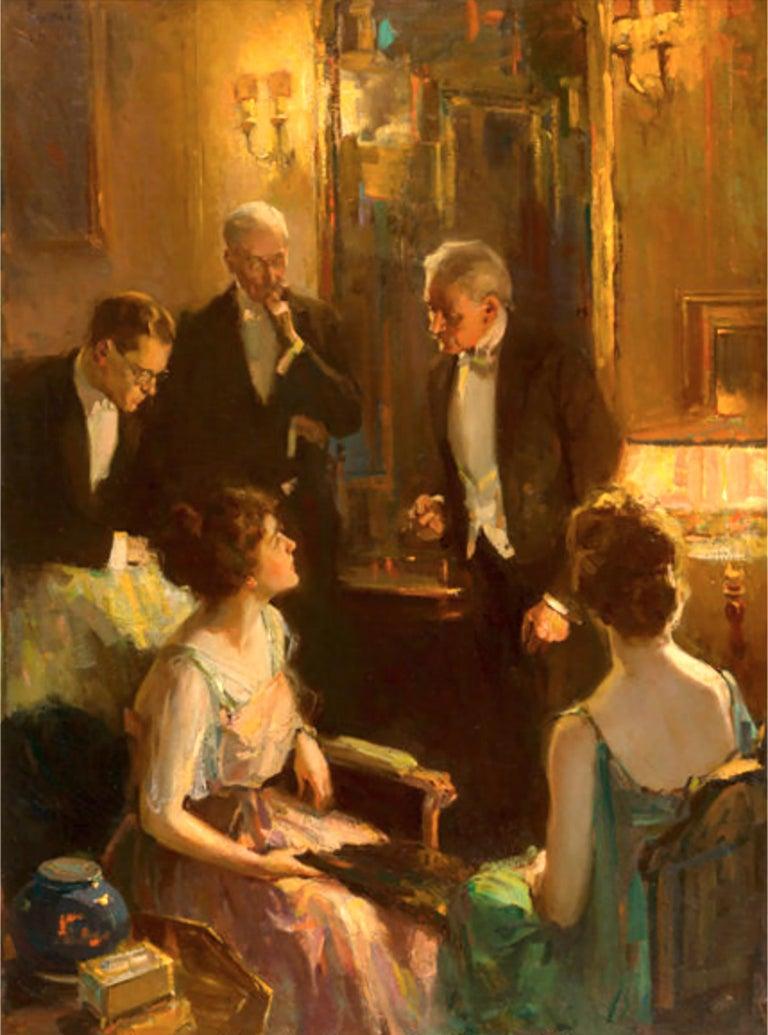 Pruett Alexander Carter Interior Painting - An Evening Conversation