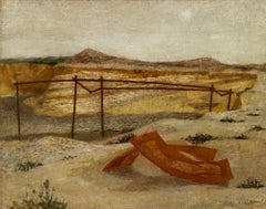 Deserted Gravel Pit - 20th Century, Oil on board by Prunella Clough