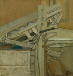 Lorry with Ladder I - 20th Century, Oil on canvas by Prunella Clough