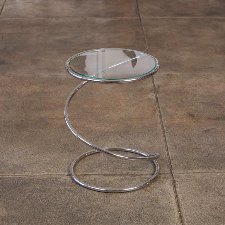Post-Modern PS-12 Spiral Side Table by Brueton For Sale