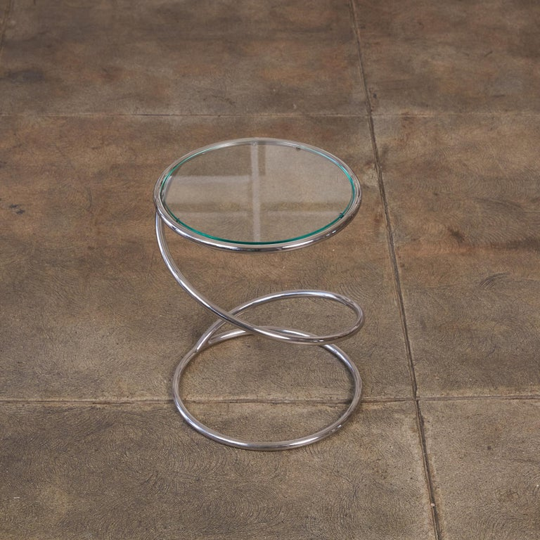 PS-12 Spiral Side Table by Brueton For Sale 1