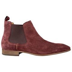 PS by PAUL SMITH Size 11 Plum Suede Chelsea Boots
