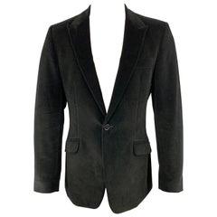PS by PAUL SMITH Size 40 Black Velvet Peak Lapel Sport Coat