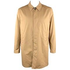 PS by PAUL SMITH XL Khaki Cotton / Nylon Hidden Buttons Long Coat
