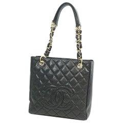 PST chain tote bag  Womens  shoulder bag A20994  black x gold hardware