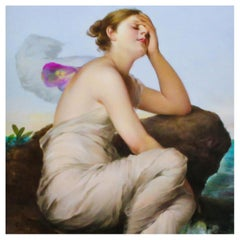'Psyche', a German Porcelain Plaque, After Wilhelm Kray, circa 1900