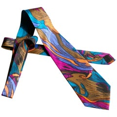 Psychedelic Vintage Retro Silk Tie, Classic from 1960s