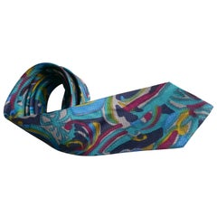 Psychedelic Vintage Retro Silk Tie, Pop Art Classic from 1960s