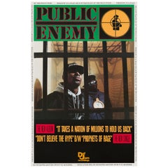 Public Enemy 'It Takes A Nation of Millions' Original Vintage Poster, 1988