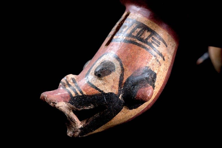 Pottery Published Polychromed Rattling Tripod Bowl - Guanacaste, Costa Rica (600-900 AD) For Sale