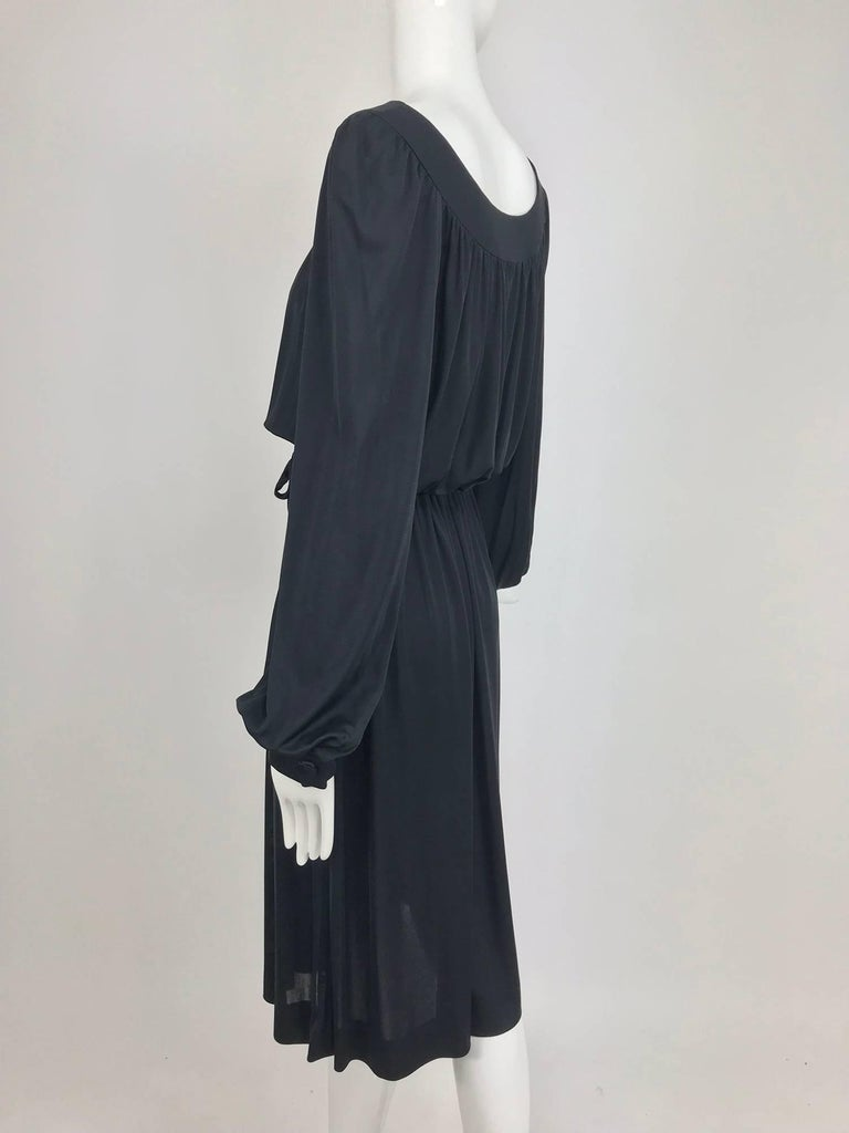 Pucci Black silk jersey draw string waist dress 1960s For Sale 6