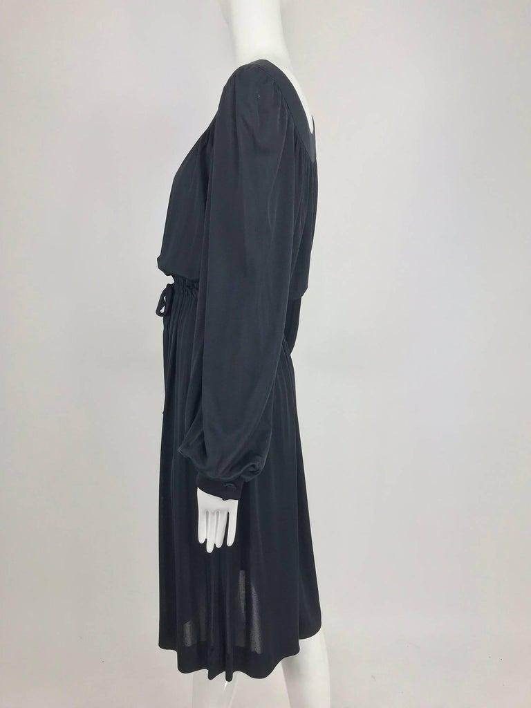 Pucci Black silk jersey draw string waist dress 1960s For Sale 7