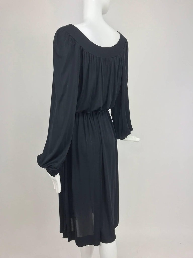 Pucci Black silk jersey draw string waist dress 1960s For Sale 5