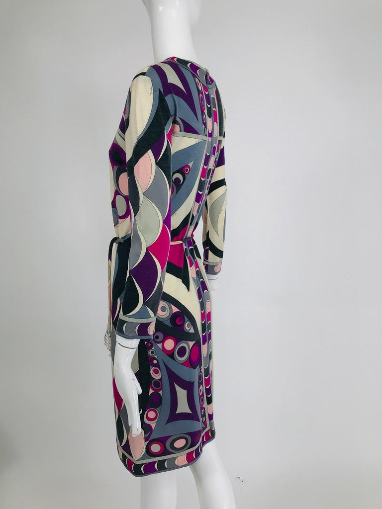 Pucci Cashmere & Silk Fine Knit Dress & Belt 1960s In Good Condition For Sale In West Palm Beach, FL