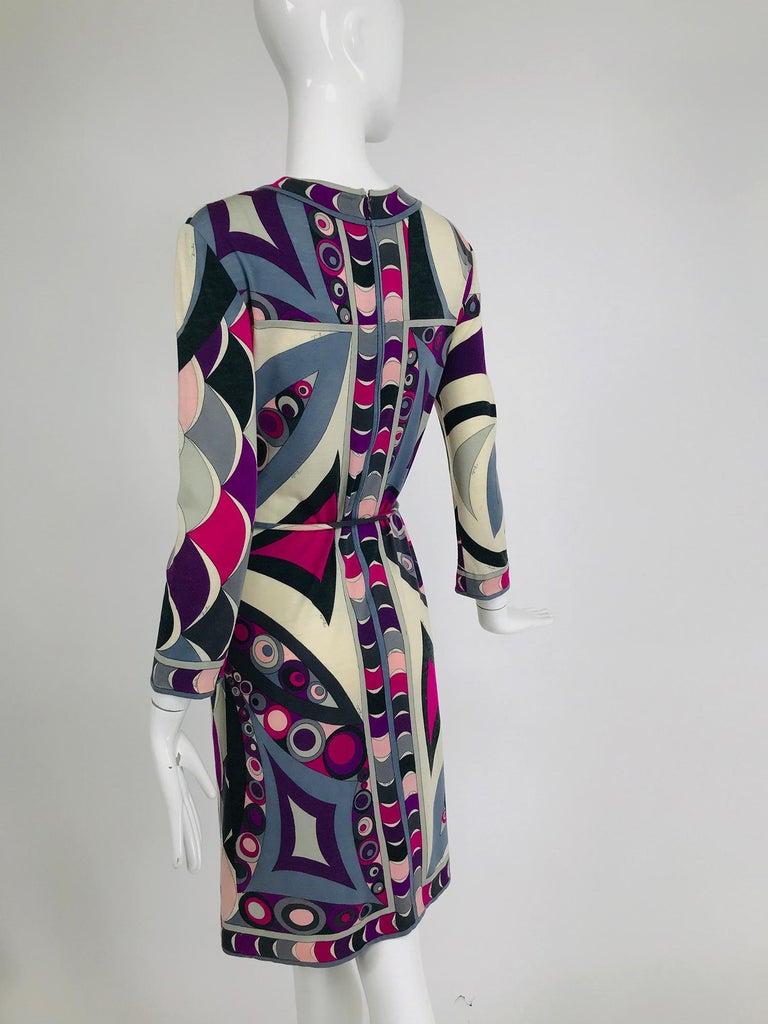 Women's Pucci Cashmere & Silk Fine Knit Dress & Belt 1960s For Sale