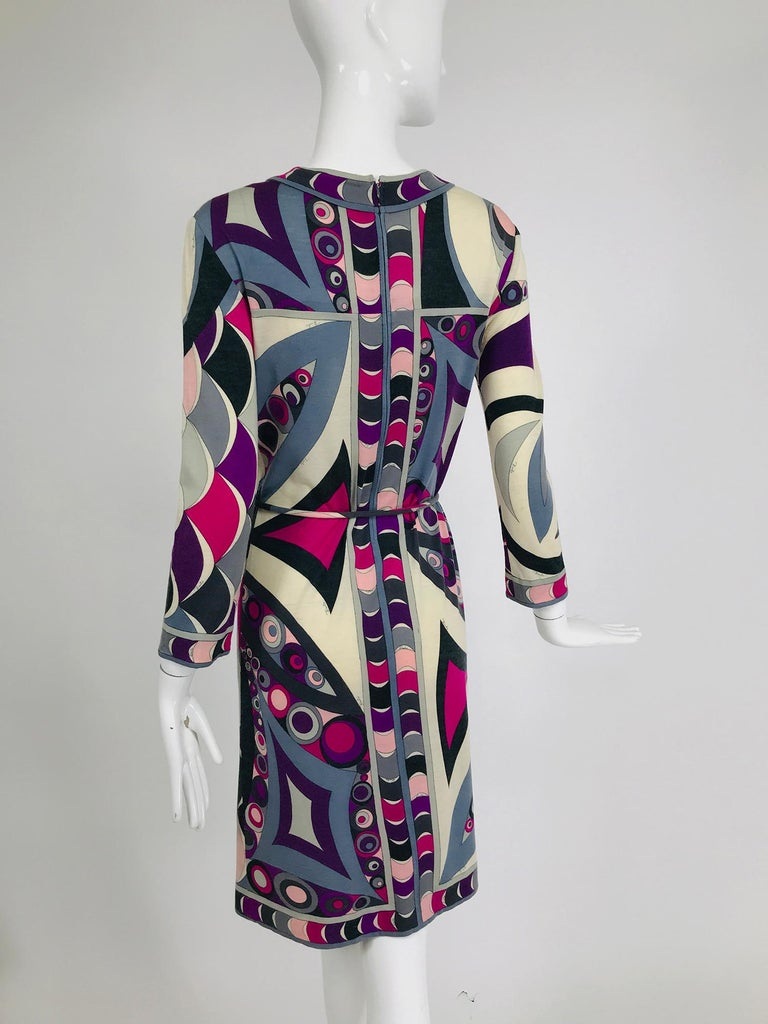Pucci Cashmere & Silk Fine Knit Dress & Belt 1960s For Sale 1