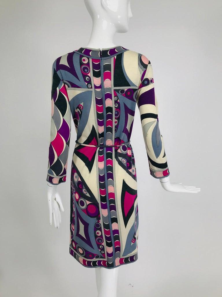 Pucci Cashmere & Silk Fine Knit Dress & Belt 1960s For Sale 2