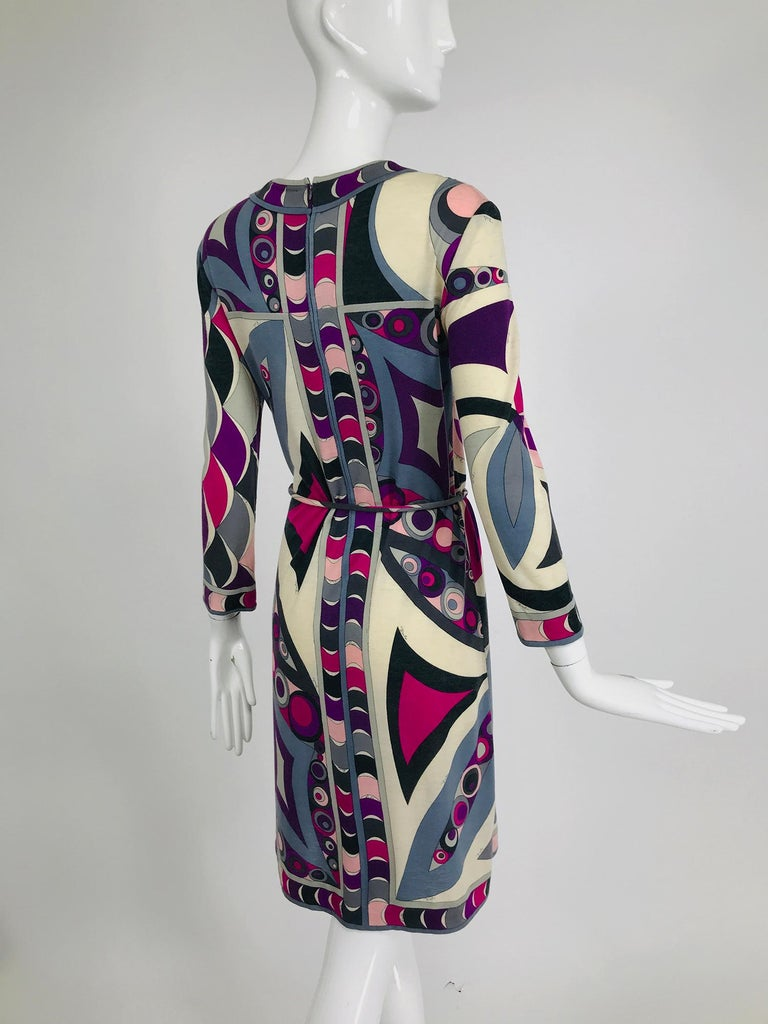 Pucci Cashmere & Silk Fine Knit Dress & Belt 1960s For Sale 3
