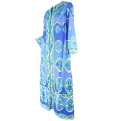 Pucci FFR Blue Robe and Nightgown
